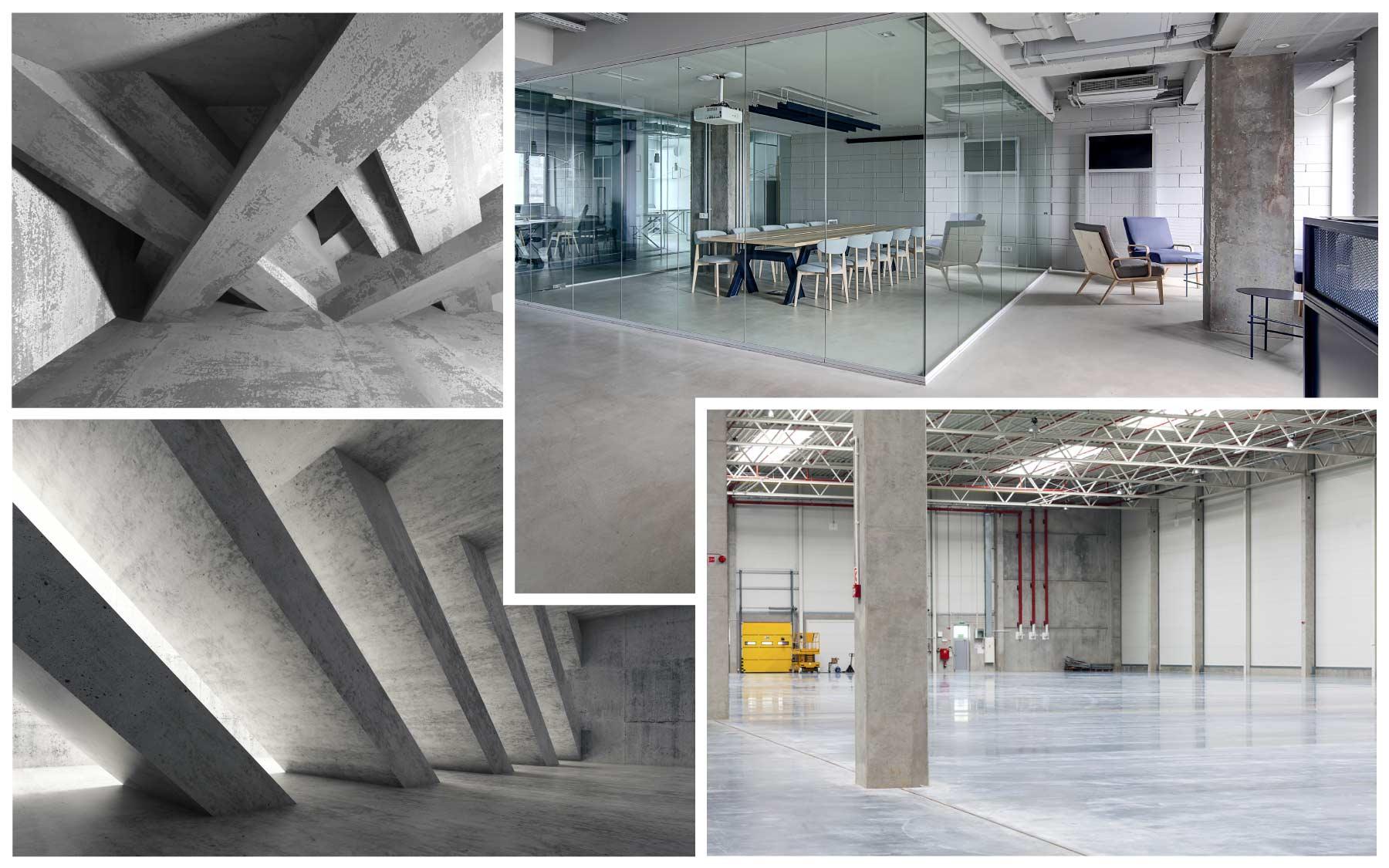 Ett urval av industri- & betonggolv