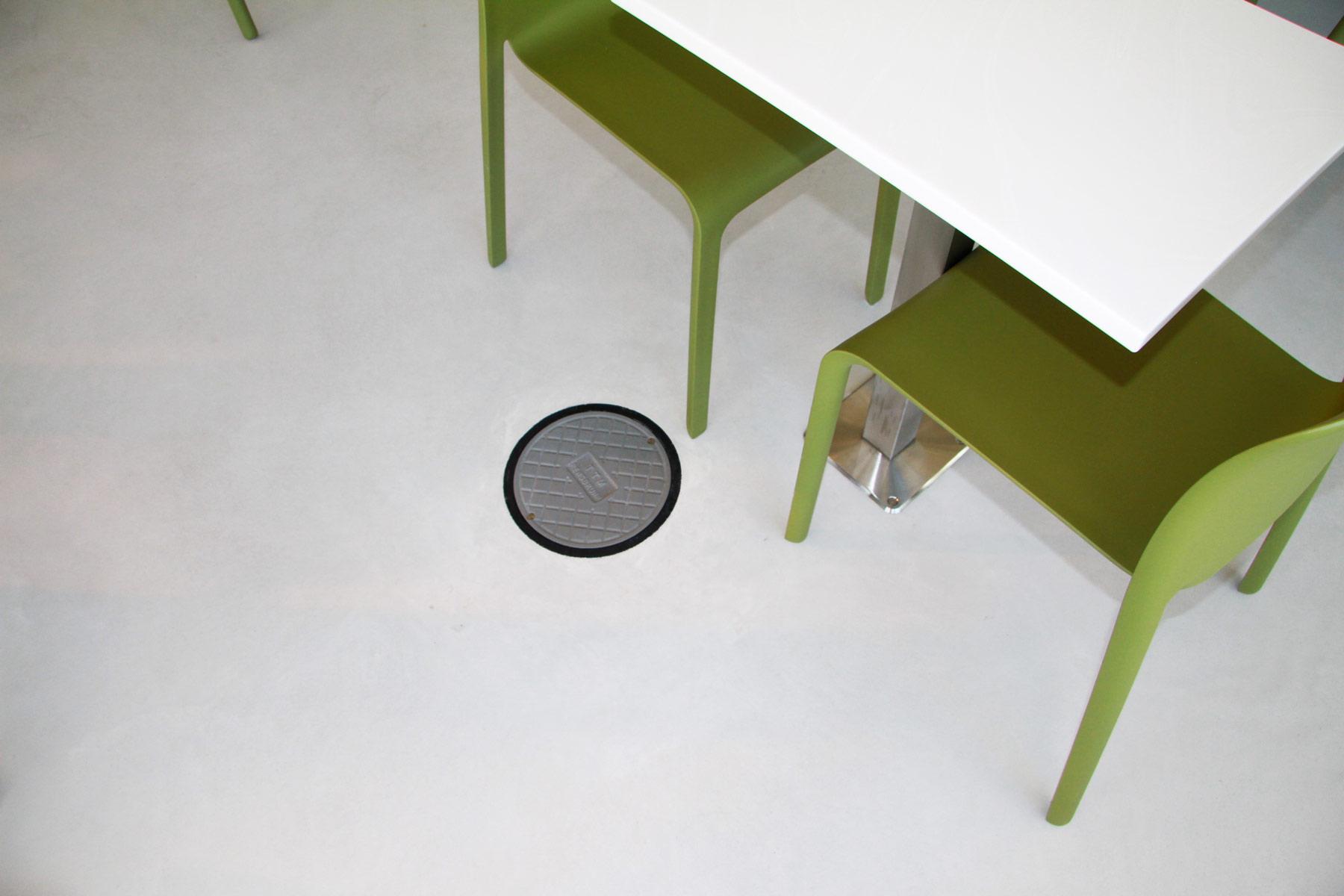 Närbild på golv på Max-restaurang
