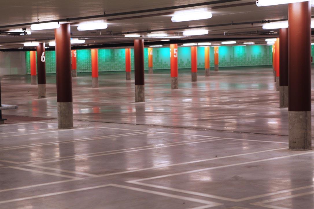 Parkeringshus i betong, Bromma Stockholm