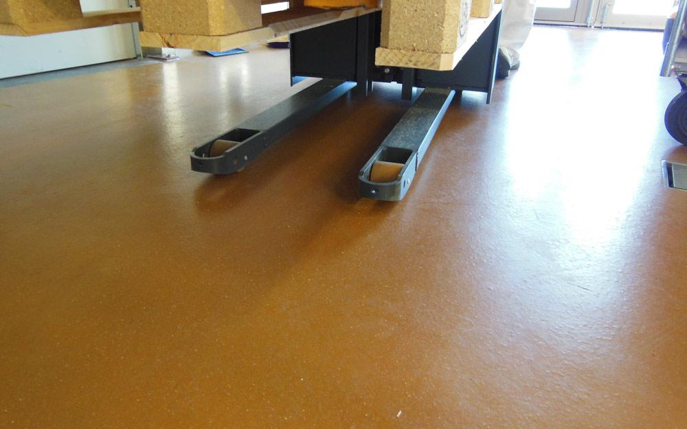 Uncrete golv betong